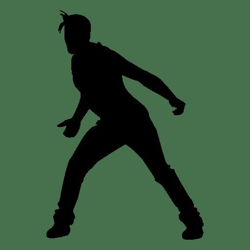 512x512 Male Dancing Silhouette