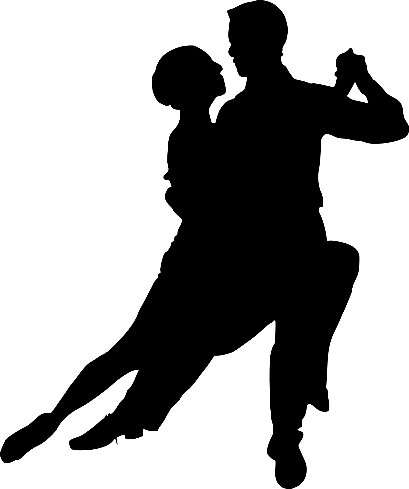 Dancer Silhouette Transparent Background