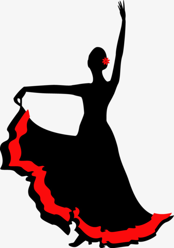 563x800 Hand Painted Dancers Silhouette, Dance, Dancing, Beautiful Png