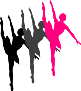 264x298 Triple Ballet Dancer Silhouette Clip Art
