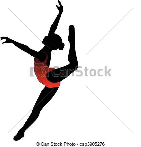 450x470 Dance Girl Ballet Silhouettes Dance Girl Ballet Collection