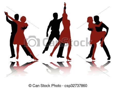 450x342 Tango Dancers Silhouettes