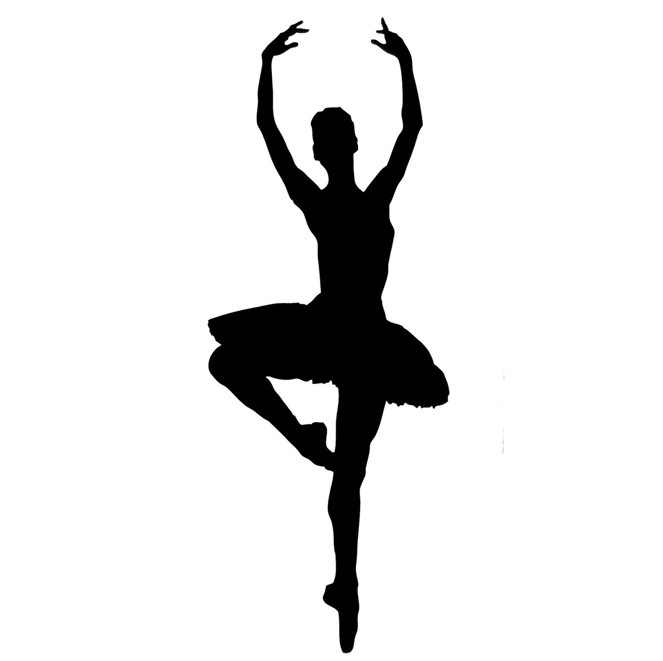 1300x1297 Ballet Silhouette Clipart