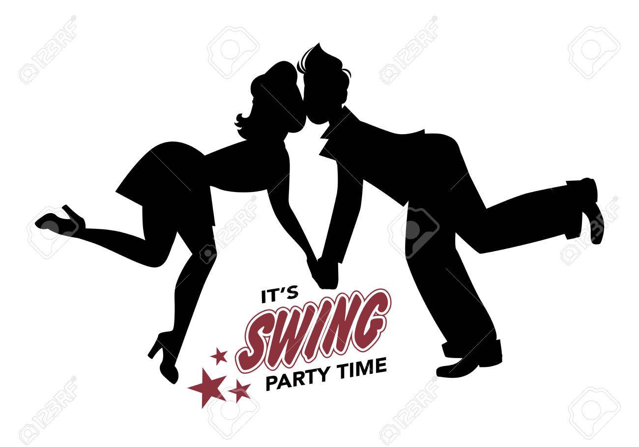 1300x910 Dancing Couple Silhouette Royalty Free Vector Image Tearing Swing