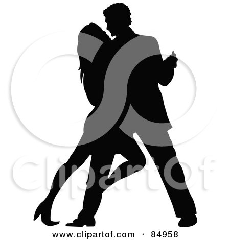 450x470 Royalty Free (Rf) Clipart Illustration Of A Tango Dancing Couple