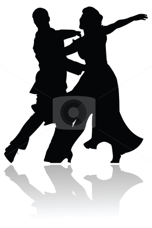 300x450 Swing Dance Couple Silhouette Stock Vector