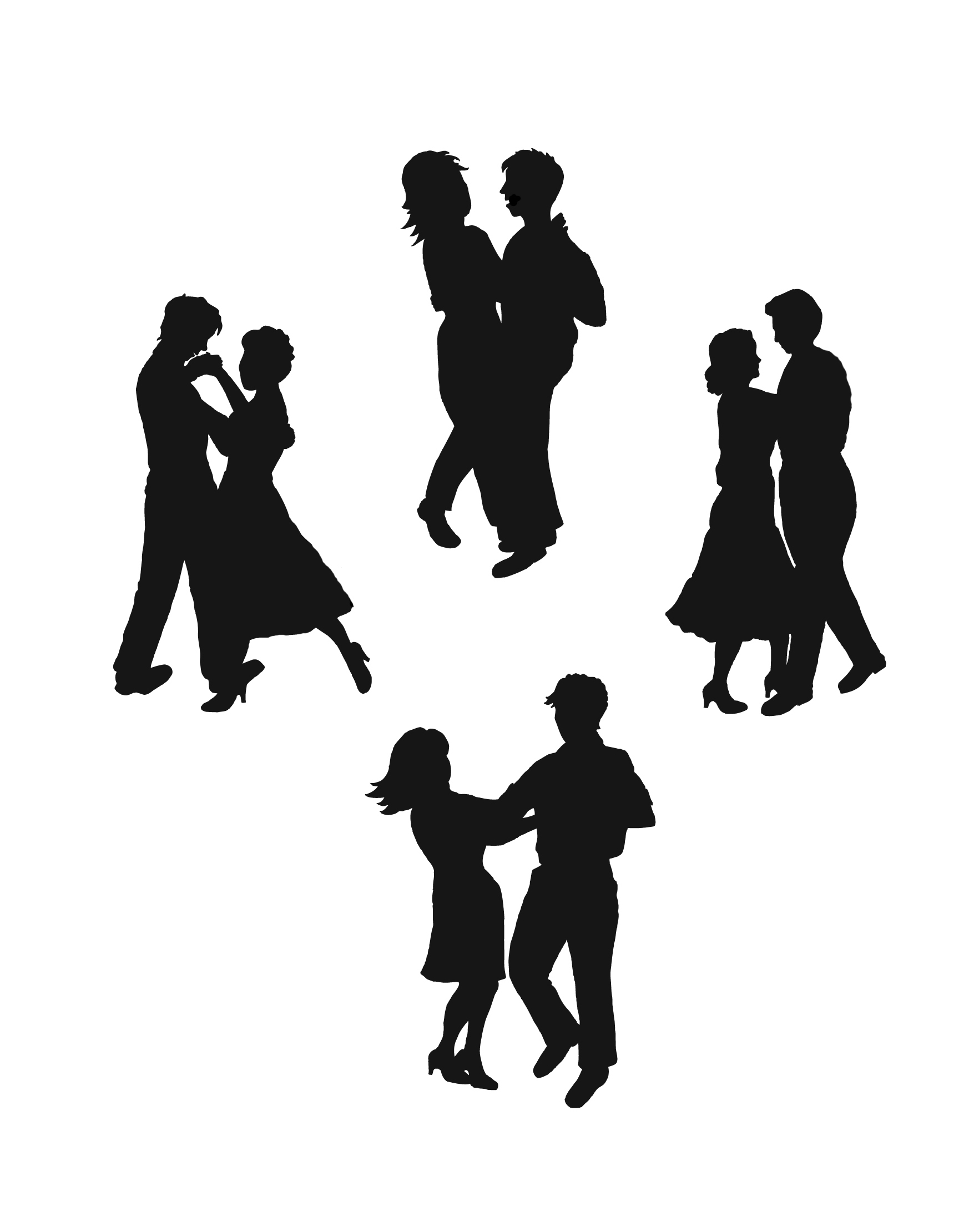 1746x2220 Youth Couples Silhouette Clipart