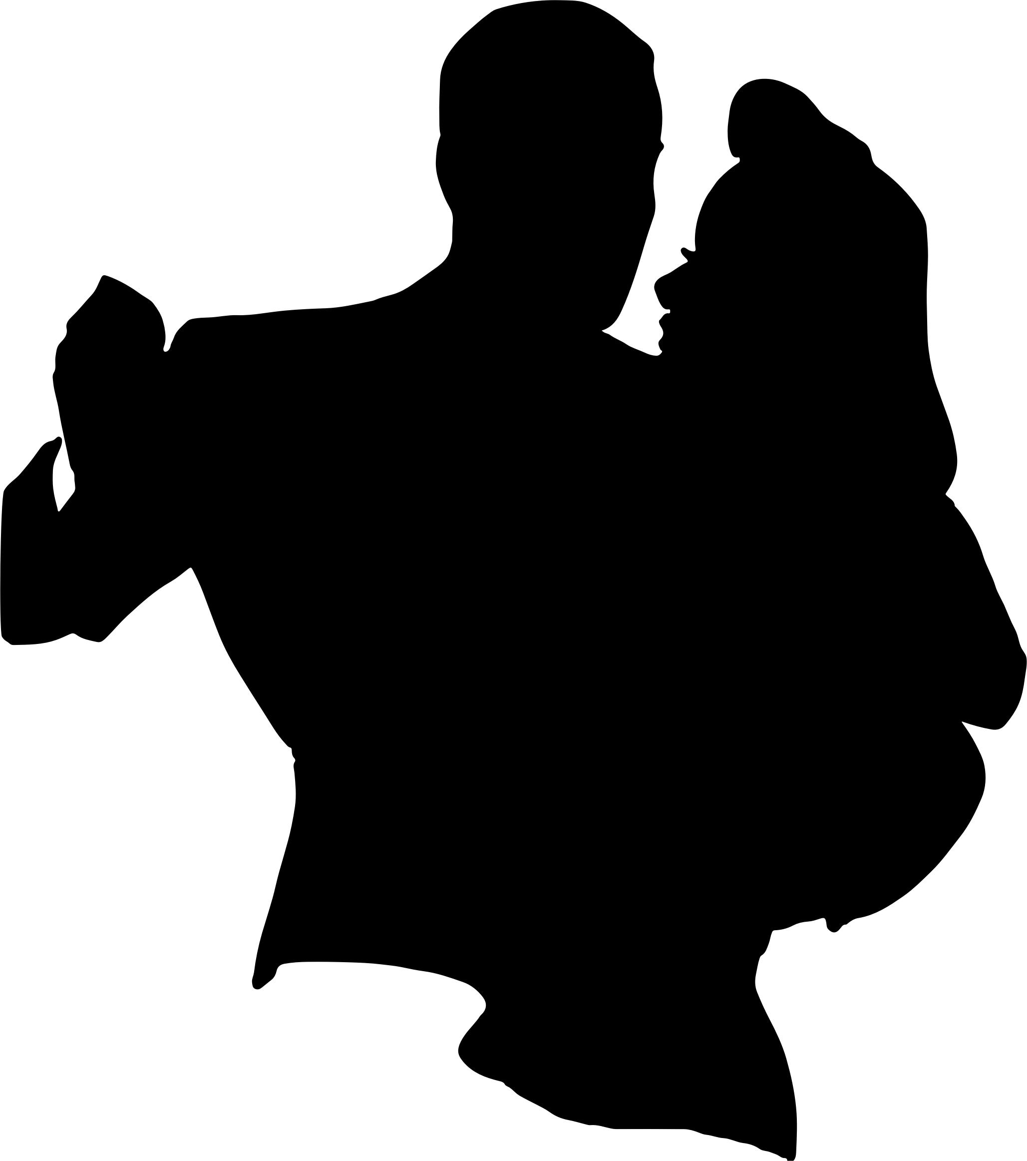 2057x2324 Retro Dancing Couple Silhouette Icons Png