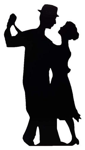 285x500 Salsa Dancer Lifesize Cardboard Cutout Partyrama.co.uk