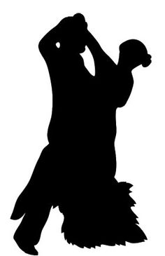 236x365 Black White Silhouette Of Dancing Couple Baking