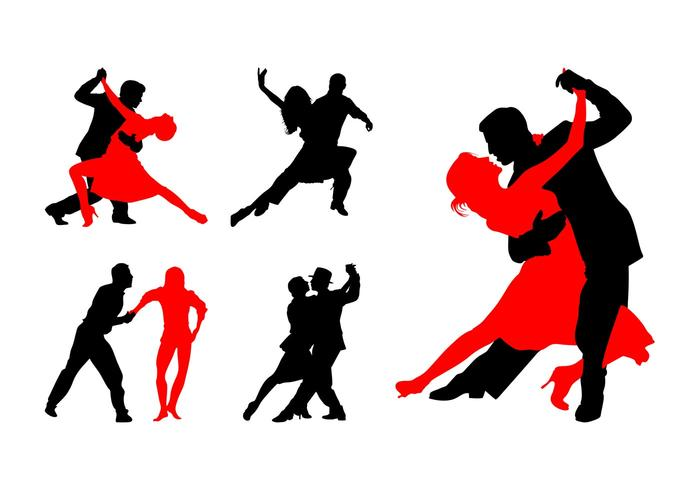 700x490 Dancing Couples Silhouettes