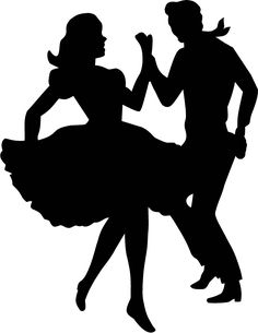 dancing couple silhouette clip art at getdrawings com free for rh getdrawings com 50's sock hop clipart