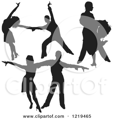 450x470 Royalty Free (Rf) Dancing Couple Clipart, Illustrations, Vector