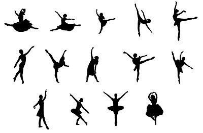 400x263 Ballet Action Figures Silhouette Vector Graphics My Free