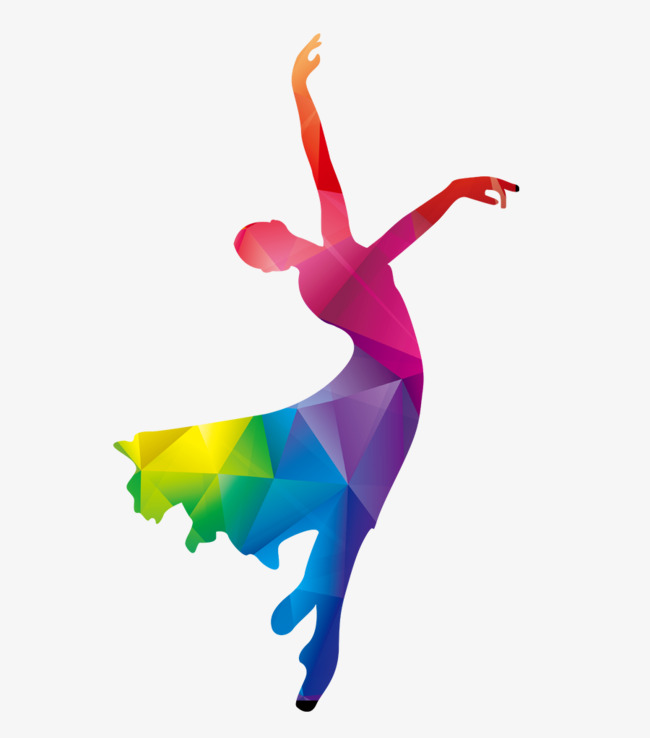650x738 Girl Dancing Silhouette, Dancing Silhouette, Color Girl Silhouette