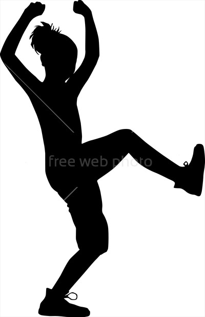 400x617 Dancing Silhouette Child Photo 3787 Download