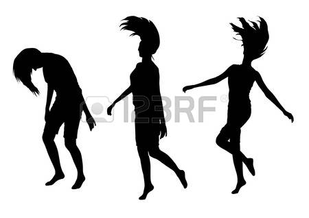 450x318 Silhouette Girl Jumping Clipart Fee Collection