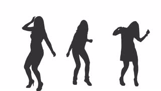 320x180 Silhouettes Of Three Young Men Dancing, Full Hd Shot With Alpha
