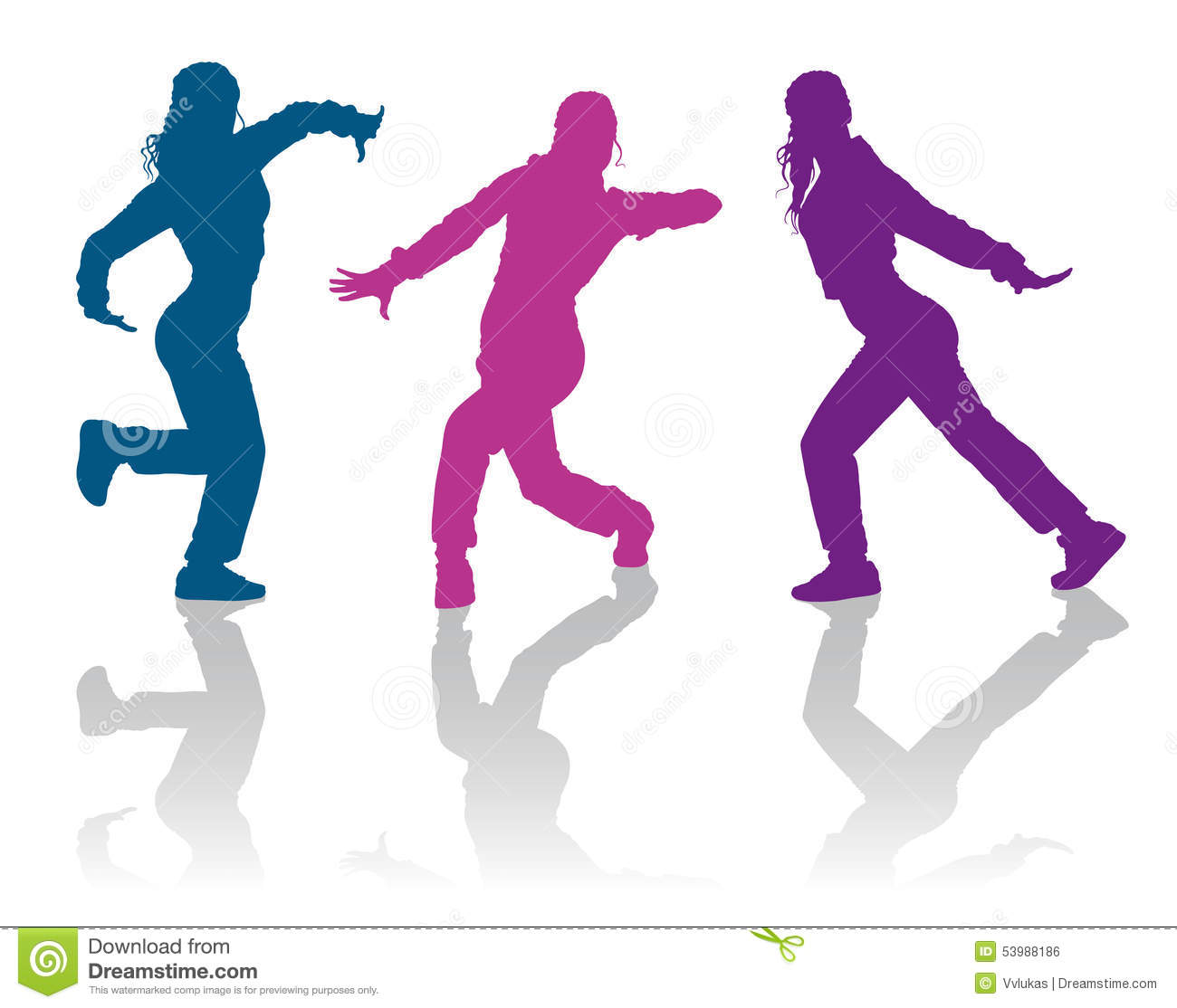 1300x1114 Hip Hop Dancing Girls Detailed Silhouettes Dancers 53988186.jpg