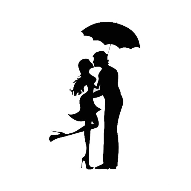 Dancing In The Rain Silhouette