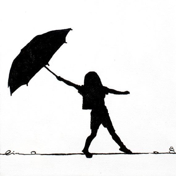 570x570 Little Girls On Little Canvas Girl Dancing In The Summer Rain