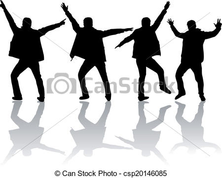 450x361 Dancing Men Silhouettes Vector