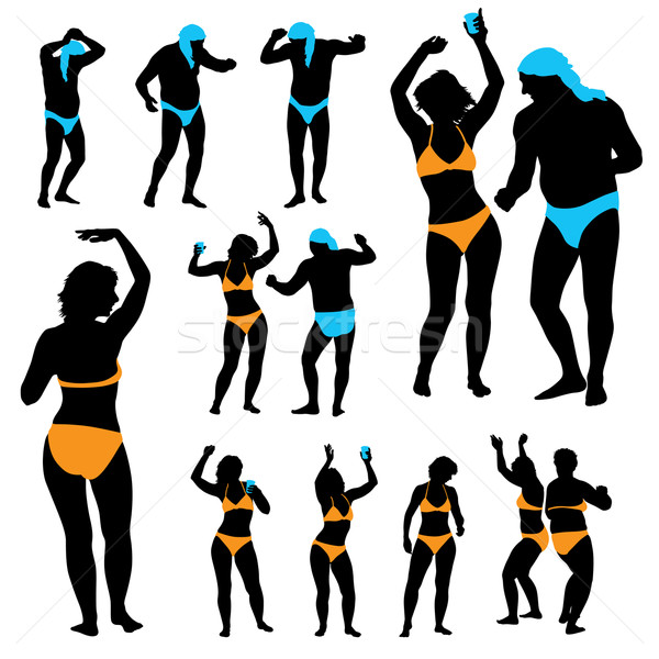 600x600 Dancing People Vector Illustration Mazur (Aiel