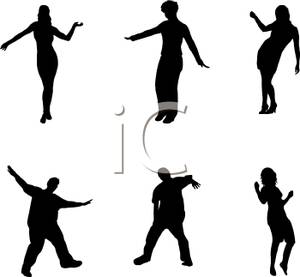 300x277 Silhouette Of Six People Dancing