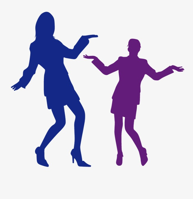 650x669 Vector Silhouette Of Two People Dancing, Dancing, Dance, Sketch