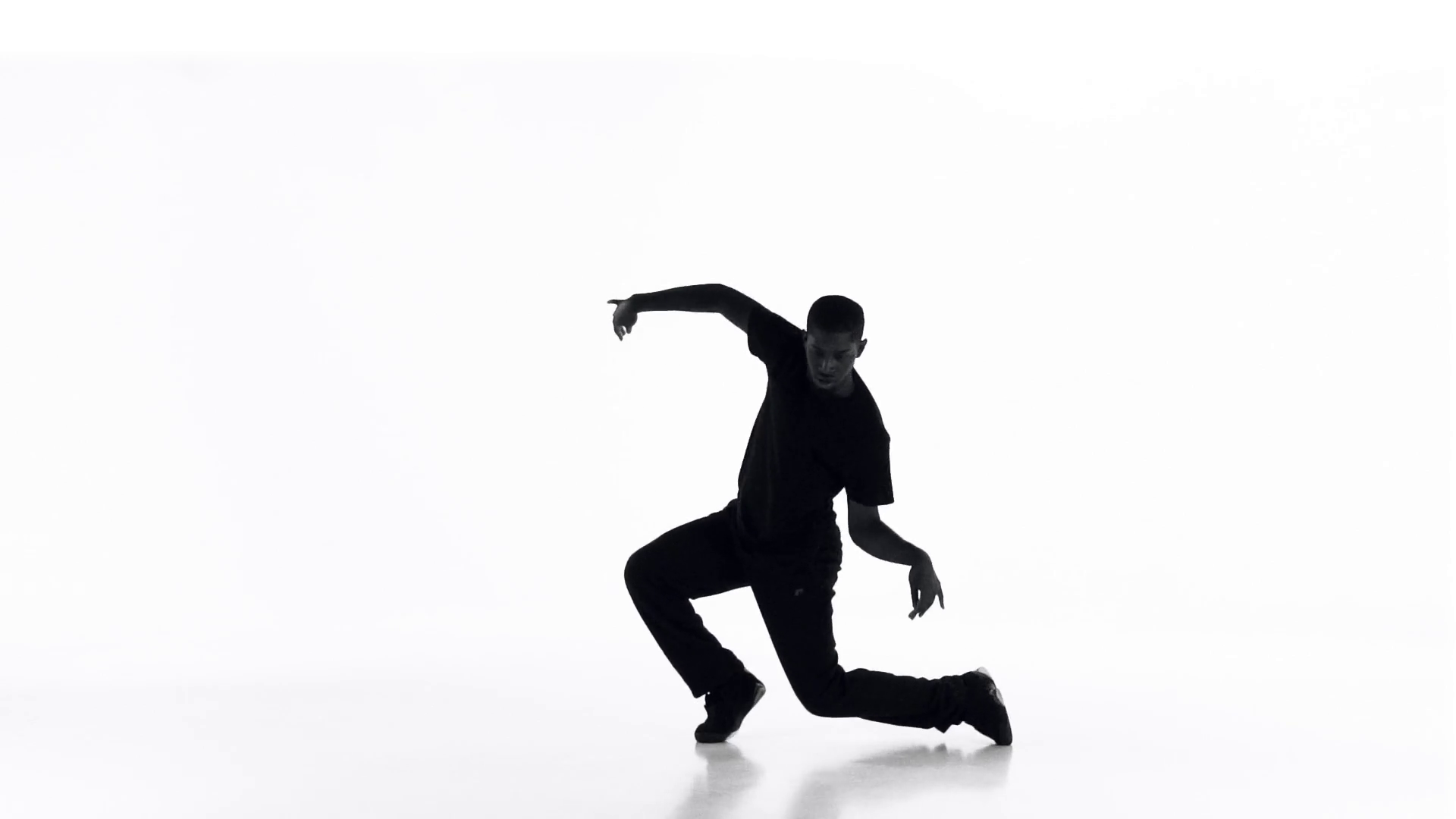 1920x1080 Street Dancing Silhouette 06 Stock Video Footage