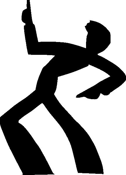 432x600 Dancing Man Silhouette Clip Art