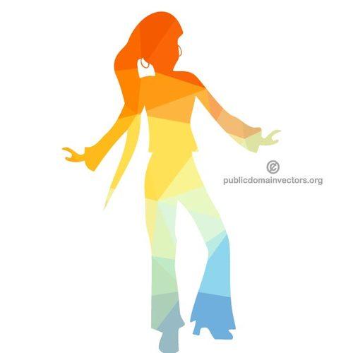 500x500 Disco Dancer Silhouette Public Domain Vectors