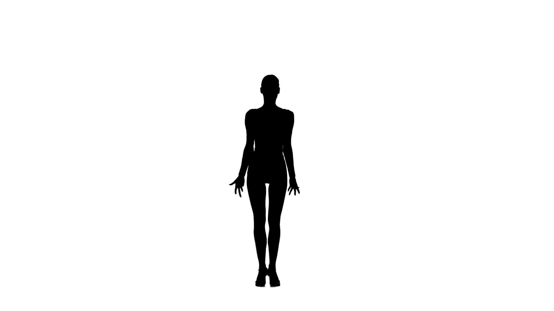 1920x1080 Slim Professional Dancer Woman Dancing Latino On White Background