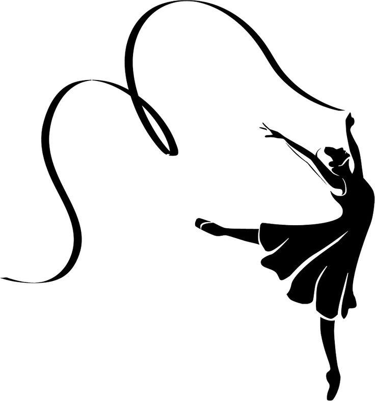 736x787 Ribbon Dancer Silhouette Clipart