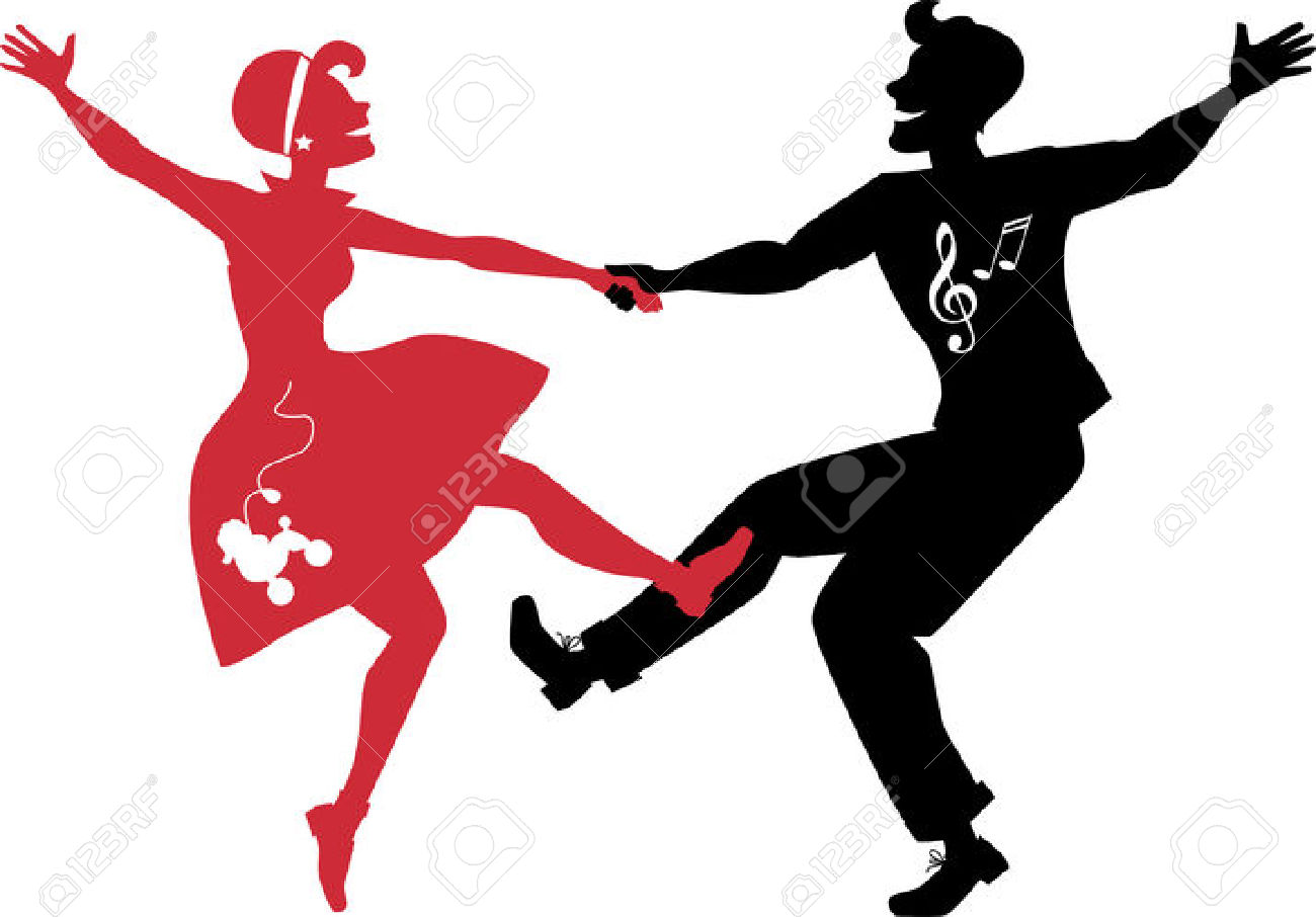 1300x906 Dancing Silhouette Clipart