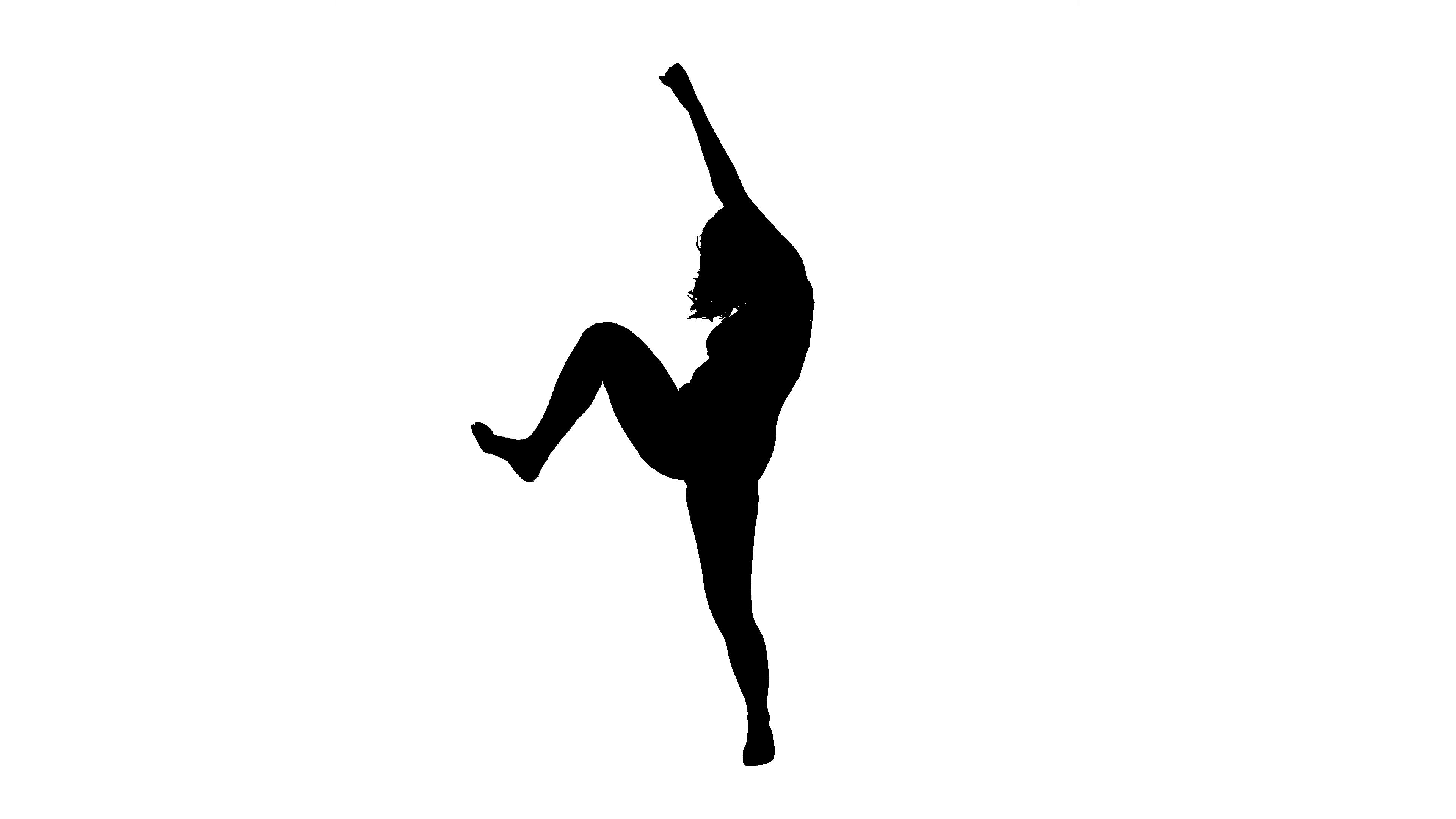 3840x2160 Dancing Silhouette Modern Dance. Stock Video Footage