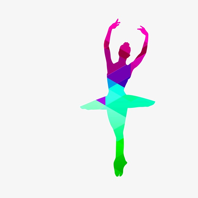 650x650 Color Girl Dancing Silhouette, Color, Girl, Dance Png Image