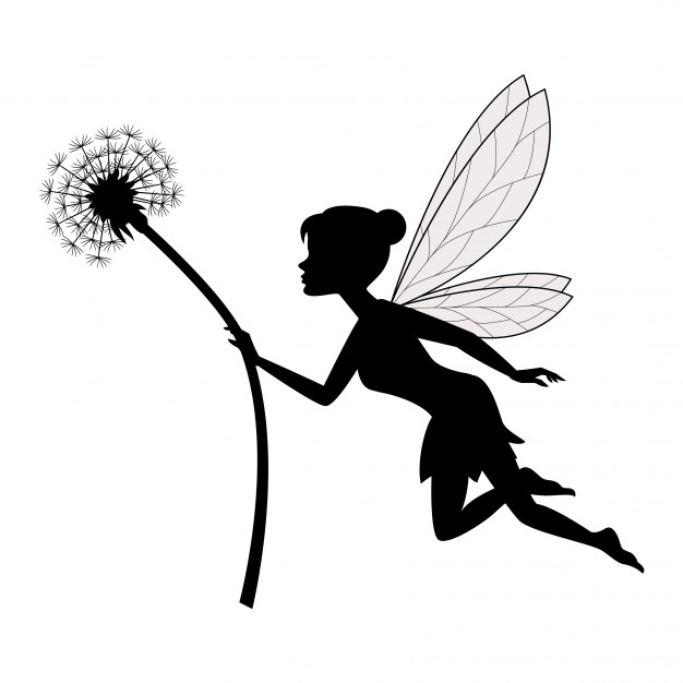 626x626 Fairy Holding Dandelion Vector Premium Download