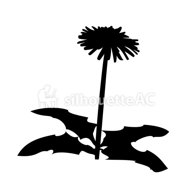 750x750 Free Silhouettes Dandelion, Icon, Simple