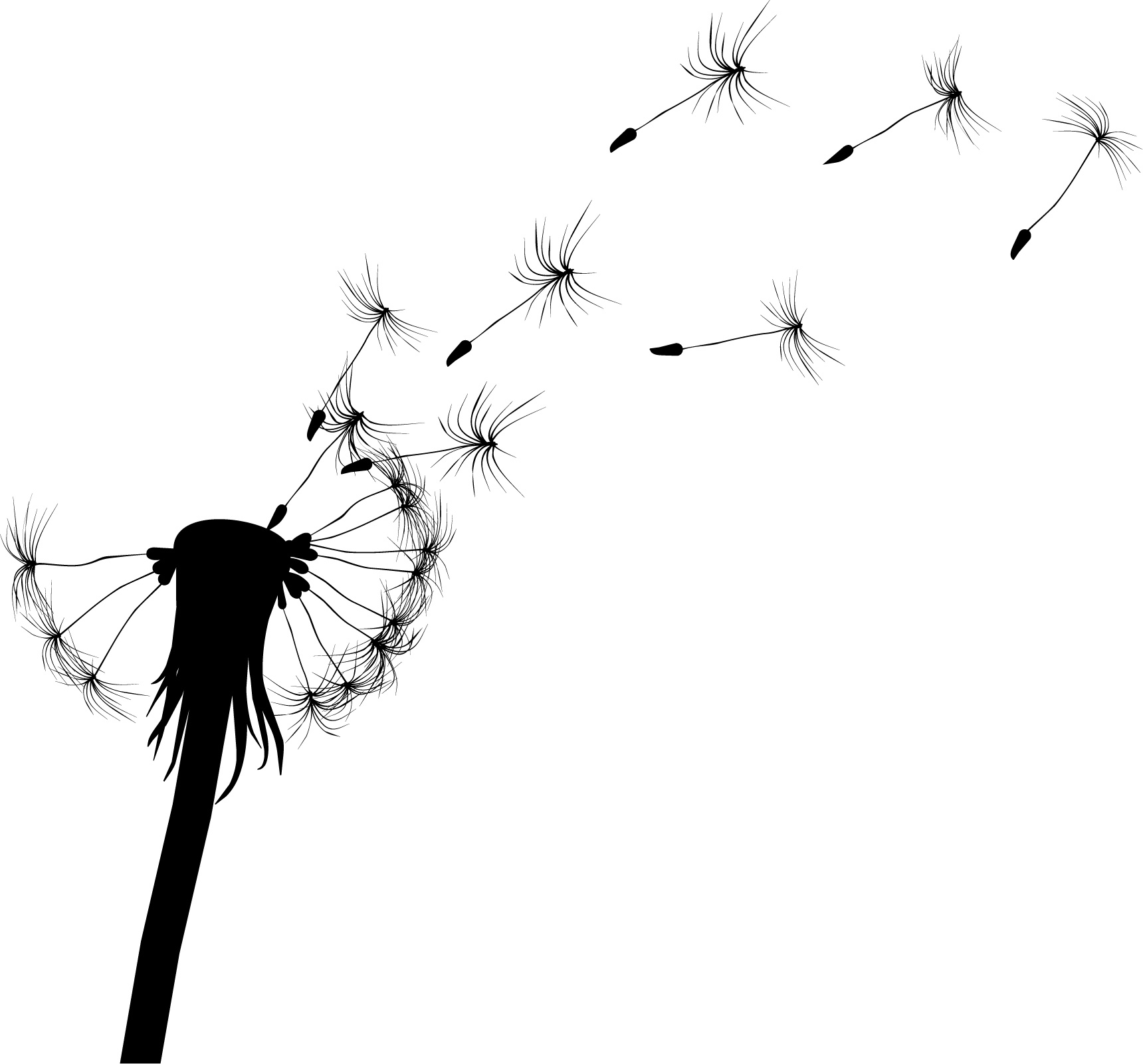 1720x1601 Dandelion Vector Material Free Download Web