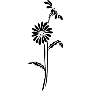 300x300 Flowers Silhouette Clipart, Cliparts Of Flowers Silhouette Free