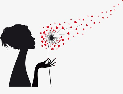 400x308 Blowing Dandelion Seeds, Love, Hair, Black Png Image And Clipart