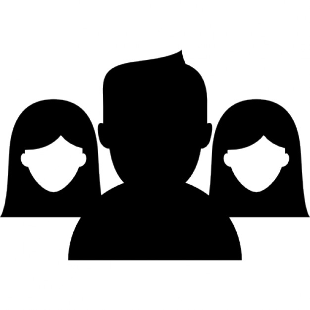 626x626 Group Close Up With Man Dark Silhouette In Front Icons Free Download