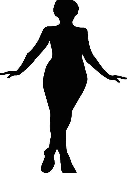 447x609 Woman, Lady, Fashion, Outline, Beauty, Black, Dark, Silhouette
