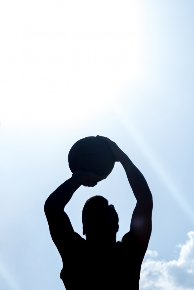 626x937 Dark Silhouette Of Basketball Player Photo Free Download