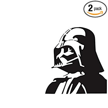 355x355 Darth Vader (Black) (Set Of 2)