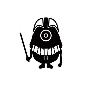 300x300 Minion Star Wars Darth Vader Macbook Laptop Car Window Wall Helmet