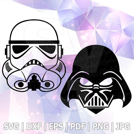 570x570 Star Wars Svg Stormtrooper Darth Vader Eps Dxf File For Cricut