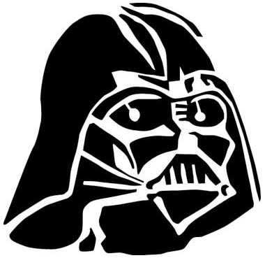 Darth Vader Mask Silhouette