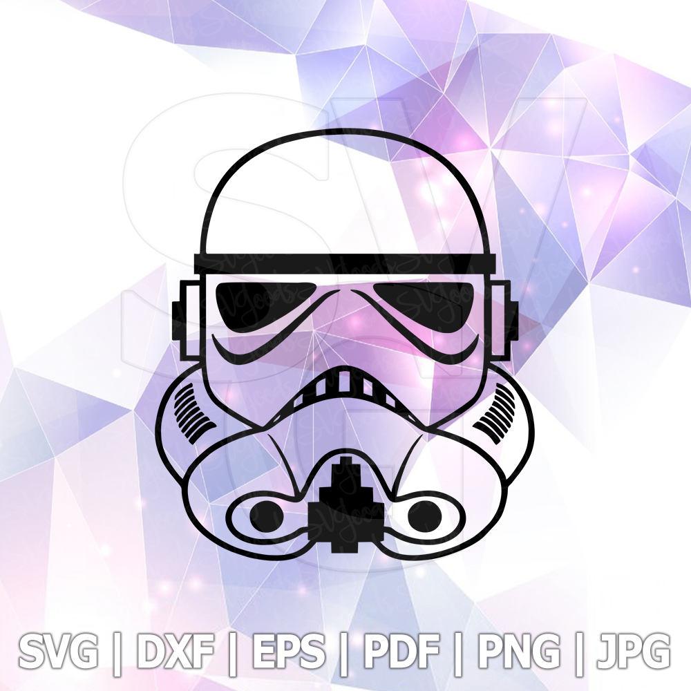 1000x1000 Svg Star Wars Stormtrooper Darth Vader Dxf File For Cricut Design